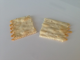 crunchy cracker for sensory play with your food activity for picky eaters