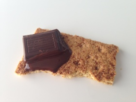 cinnamon graham cracker and dark chocolate for sensory feeding therapy, food play activity for feeding aversion picky eaters
