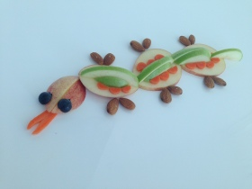 fruit and veggie animal for sensory food play activity for picky eaters