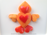 papaya and red pepper heart duck