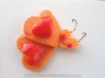 papaya and red pepper heart butterfly