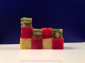 fruit blocks, cubes