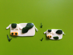cheese and cucumber cows