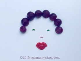 your hair looks grape food face