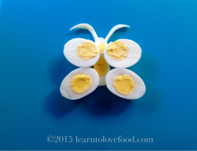 hard boiled egg butterfly