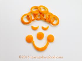 orange peel clown food art