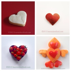 food heart collage