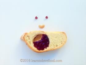 PB and J Food Art Food Face